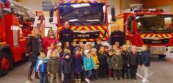 visite de la caserne des pompiers de Granville